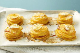 How to make cheesy potato stacks without a muffin tin