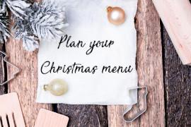 Plan your Christmas menu