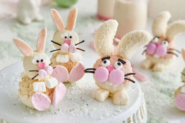 Cute easter bunny-shaped treats