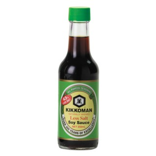 Kikkoman Naturally Brewed Less Salt Soy Sauce