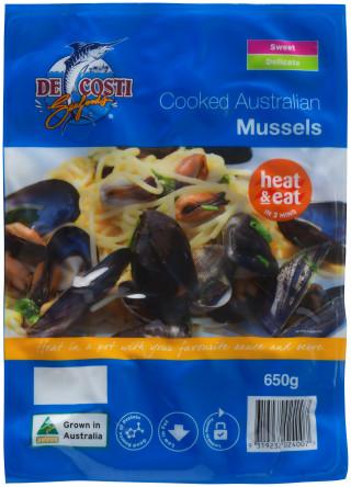 De Costi Cooked Australian Mussels
