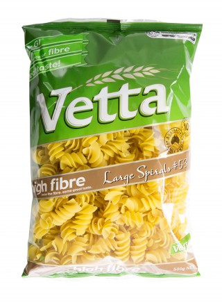 Vetta High Fibre Spirals are great for making simple family favourite pasta bakes
