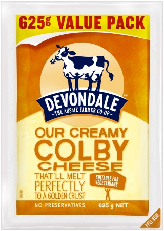 Devondale Colby Cheese, best for grilling.