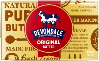 Devondale butter, wholesome Australian butter great for baking, in pancakes and in a huge range of recipes.