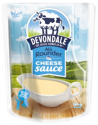 Devondale All Rounder Cheese Sauce, easy cheese made simply. Perfect for vegetables and nachoes.