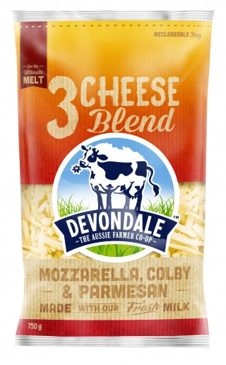 Devondale 3 Cheese Blend Cheese