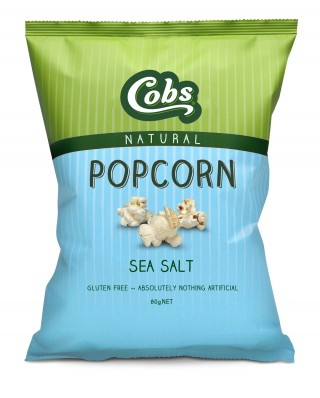 Cobs Natural Sea Salt Popcorn is gluten free and contains absolutely nothing artificial. Perfect to be enjoyed on it's own as a delicious snack or this popcorn is a fantastic ingredient to add to dessert recipes and is the perfect crunchy coating.