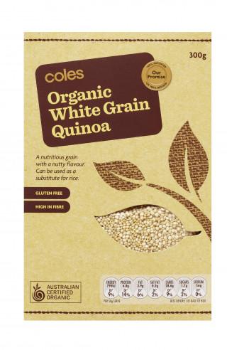 Coles Organic White Grain Quinoa
