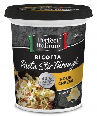 This easy to use ricotta stir through is the perfect ingredient to add to a quick mid-week pasta dish.