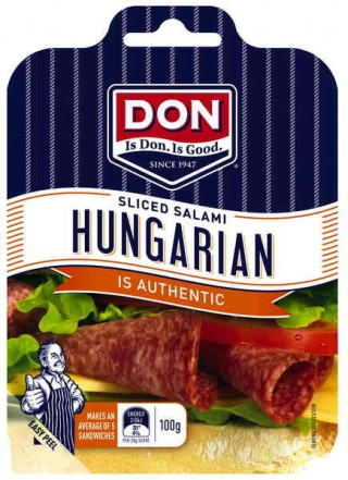 There's no mistaking that DON Hungarian Salami Zing, easy entertaining food or perfect for school lunches