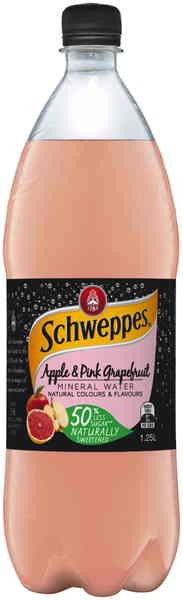 Schweppes Apple & Pink Grapefruit Mineral Water