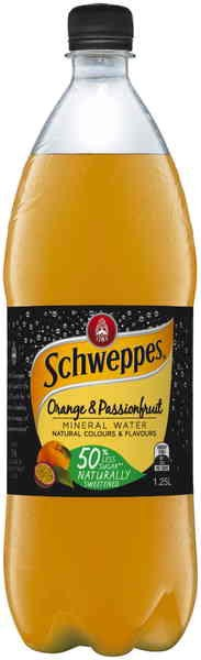 Schweppes Orange & Passionfruit Mineral Water