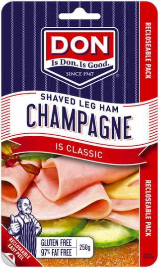 The name says it all - Champagne Shaved Ham, perfect for your next celebration. Perfect food for school lunches