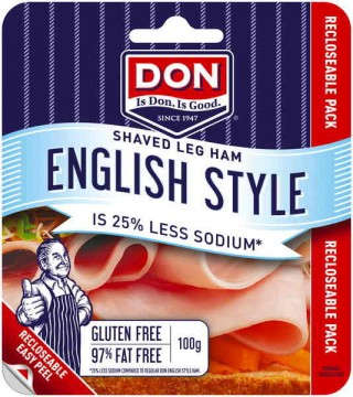 DON Sliced ham is the perfect food for your next sandwich.Traditional cured meat.