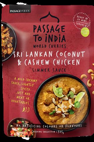 Sri Lankan Coconut Cashew Chicken Simmer Sauce Passage to India