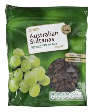 Coles Organic Sultanas