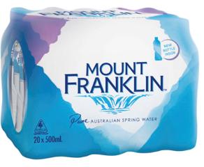 Mount Franklin Still Water - Australia's premium water