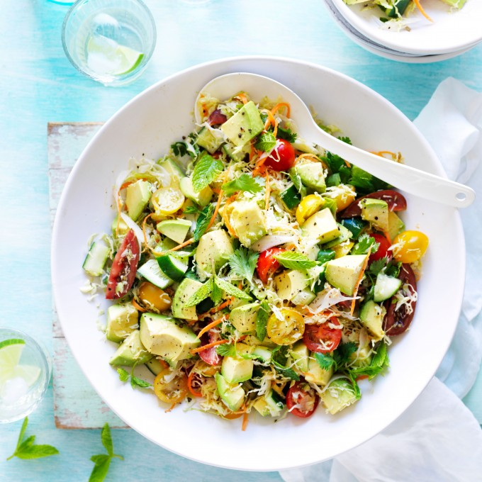 Cabbage Salad Recipe with Avocado