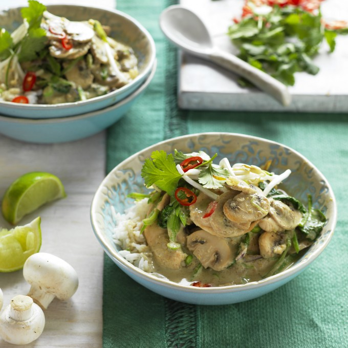Mushroom and Chicken Green Curry recipe