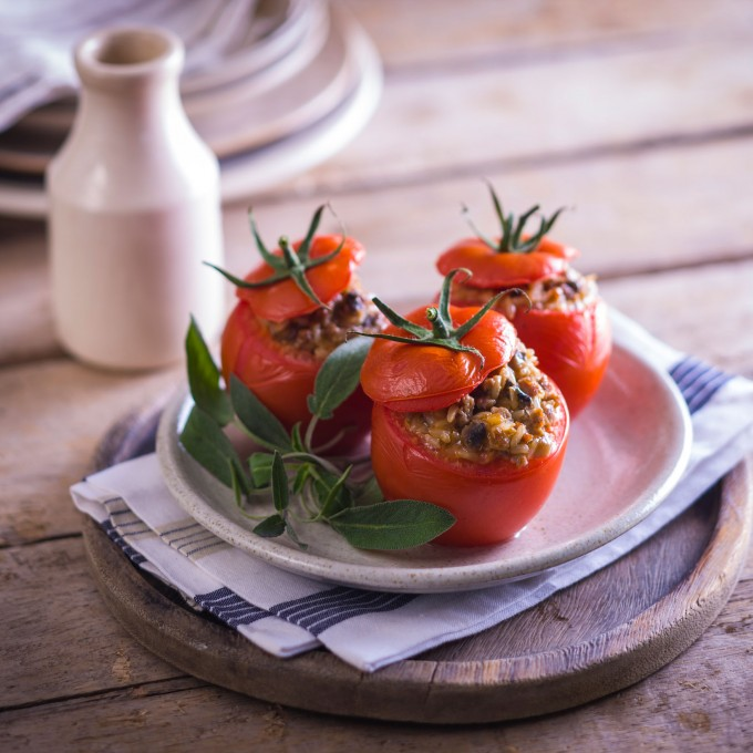 Stuffed Tomatoes recipe with turkey mince