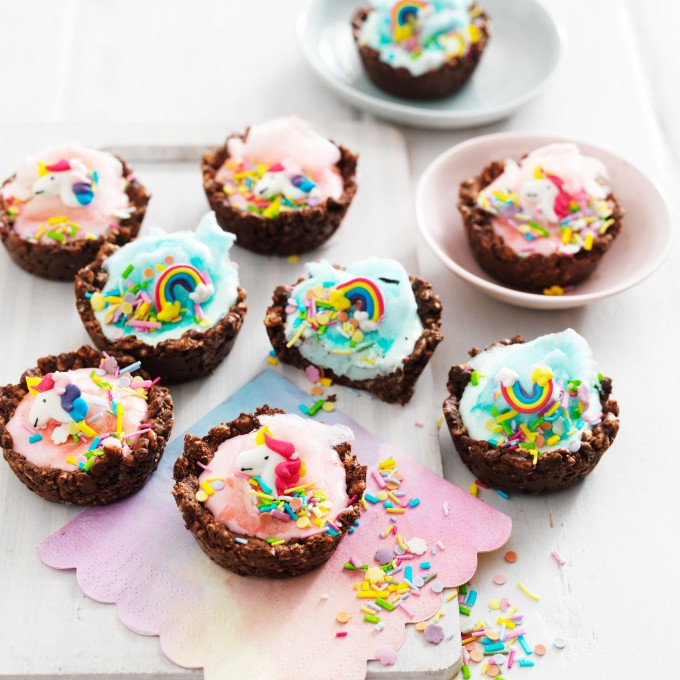 Unicorn Chocolate Crackle Cups