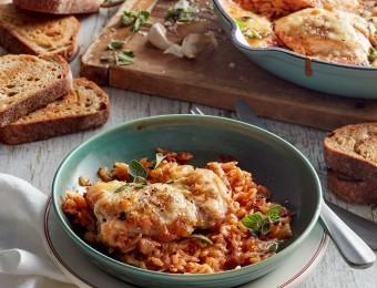 Quick chicken risoni tomato recipe
