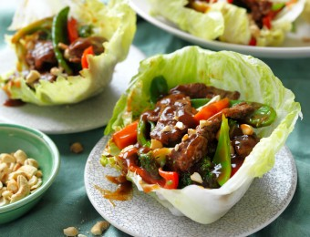 Beef and cashew lettuce cups recipe