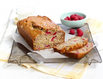 Banana, Raspberry & Coconut Bread