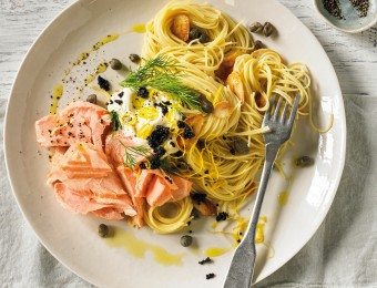 Sous Vide Salmon with Pasta Recipe