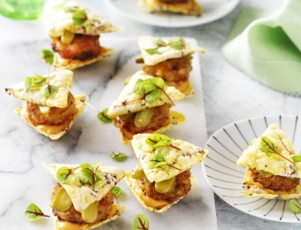 Corn Chip Sliders with Crumbed Fish Patties