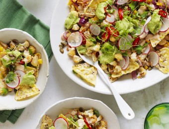 Chilli and Lime Roasted Cauliflower Nachos