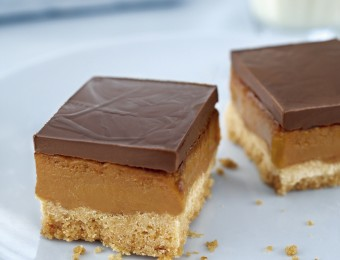 yummy Dark Caramel Sticky Slice