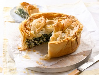 Cheese Greens Filo Pie