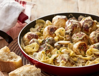 Chicken Mince Meatballs in creamy mushroom sauce