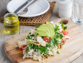 This is a photo of Chicken and Avocado Salad