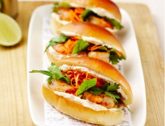 Prawn and Lime Sliders