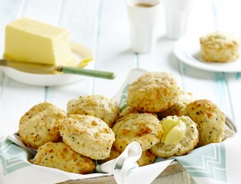 Cheesy Chive and Mustard Scones
