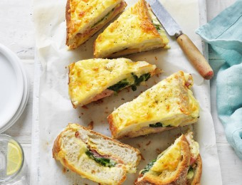 The Ultimate Ham, Cheese and Spinach Breakfast Loaf