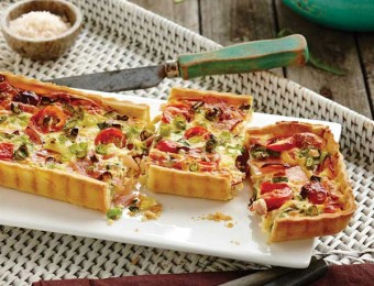 Ham and Cherry Tomato Tart