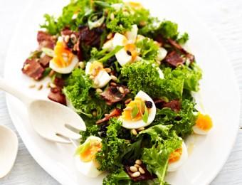 Kale, Bacon and Egg Salad