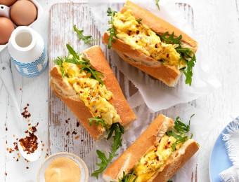Scrambled Egg Breakfast Rolls