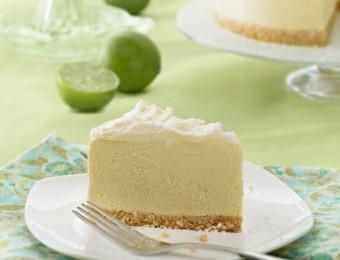White Chocolate Lime Angel Cheesecake