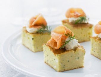 Zucchini Bites with Smoked Salmon