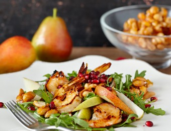 Prawn and Pomegranate Salad with Candied Peanuts