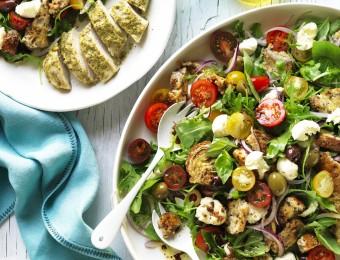 Panzanella Salad with Chicken
