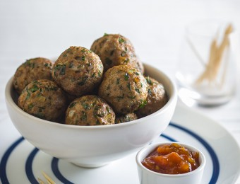 Healthy Herbed Turkey Balls Recipe