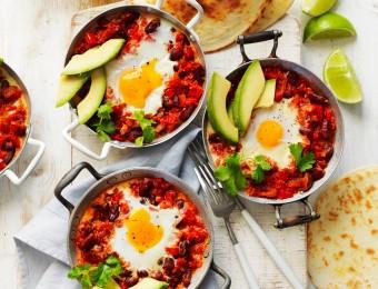 Huevos Rancheros (Mexican baked eggs)