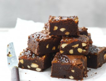 Almond and Marmalade Brownies