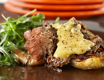 Crusted Beef with Lemon Thyme Bearnaise