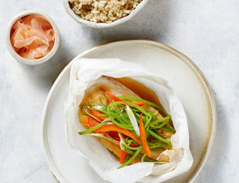 Steamed Miso Fish and Vegetables